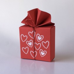 Geschenkschachtel Fächer, FA 2 Herzen