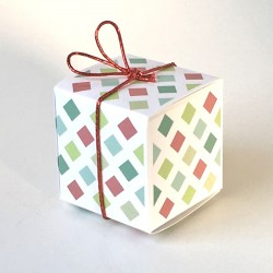 Geschenkschachtel Würfel funny squares, 8 Stück
