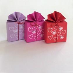 Geschenkschachtel FA 2 Herzen, 8 Stück
