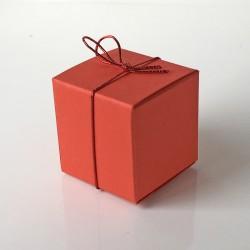 Geschenkschachtel Würfel 35 x 35 mm, 100 Stück, rot