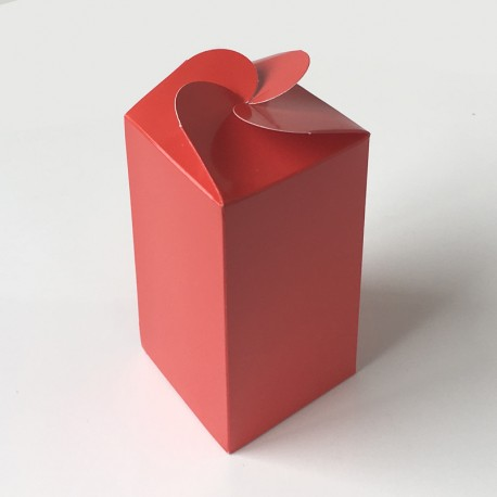 Geschenkschachtel F3, rot chromolux