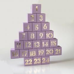 morphy Adventskalender violett-zum Befüllen