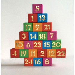 Adventskalender multicolor pop star- zum Befüllen