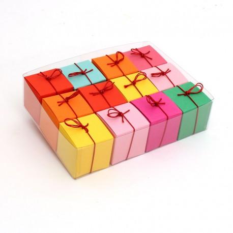 Geschenkschachteln-12 Stück-Würfel 4x4cm, 8 Farben