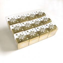 Geschenkschachteln-12 Stück-Würfel 4x4cm, Eiskristall