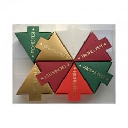 Geschenkschachteln, 8 Stück,  Dreieck Frohes Fest