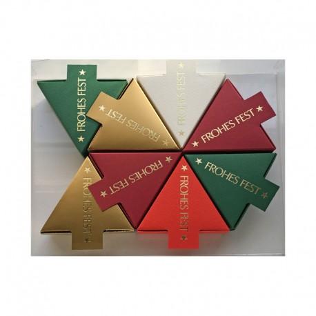 Geschenkschachtel  Dreieck Frohes Fest