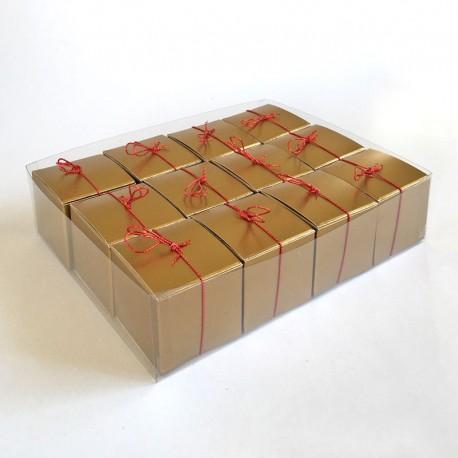 Geschenkschachteln-12 Stück-Würfel 4x4cm, gold