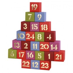 Adventskalender multicolor