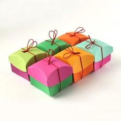 Geschenkschachtel Kisha 1, mixed colors, 6 Stück