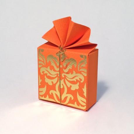 Geschenkschachtel Fächer, FA 2 Flora orange