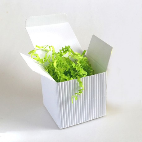 Geschenkschachtel Würfel 6,5 x 6,5 cm, Wellpappe weiß