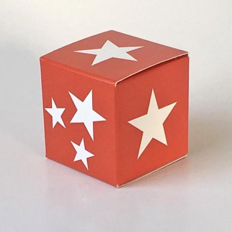 Würfel 4x4, white stars