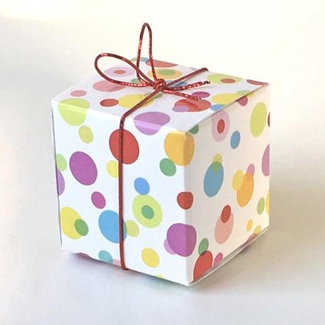 Geschenkschachtel Würfel bubbles
