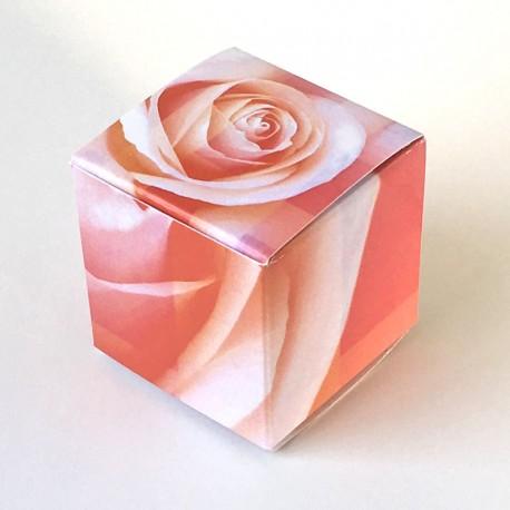 Geschenkschachtel Würfel Rose