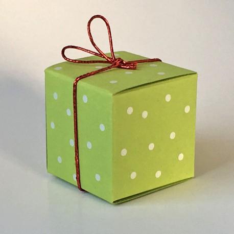 Würfel 4x4 cm, white pearls