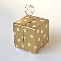 Würfel 4x4 cm, Goldpunkte